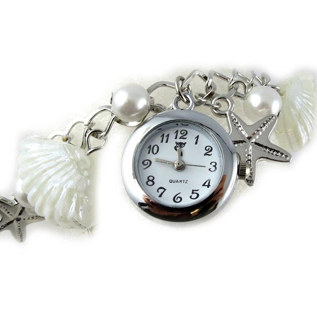 Montre bracelet \'Scarlett\' blanc - [K8921]