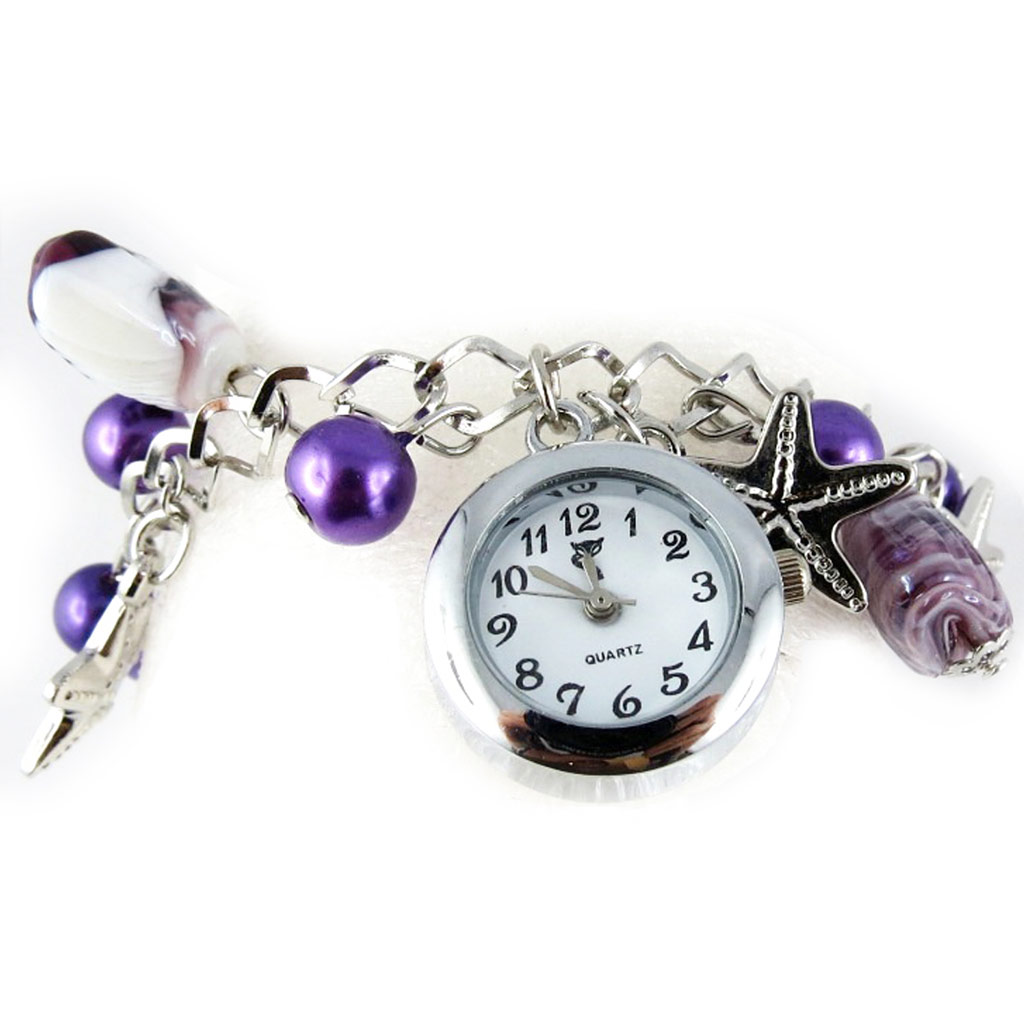 Montre bracelet \'Scarlett\' violet - [K8947]