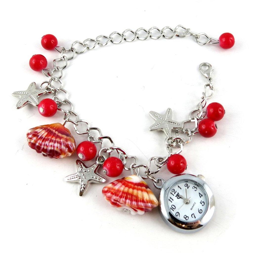 Montre bracelet \'Scarlett\' rouge - [K8948]