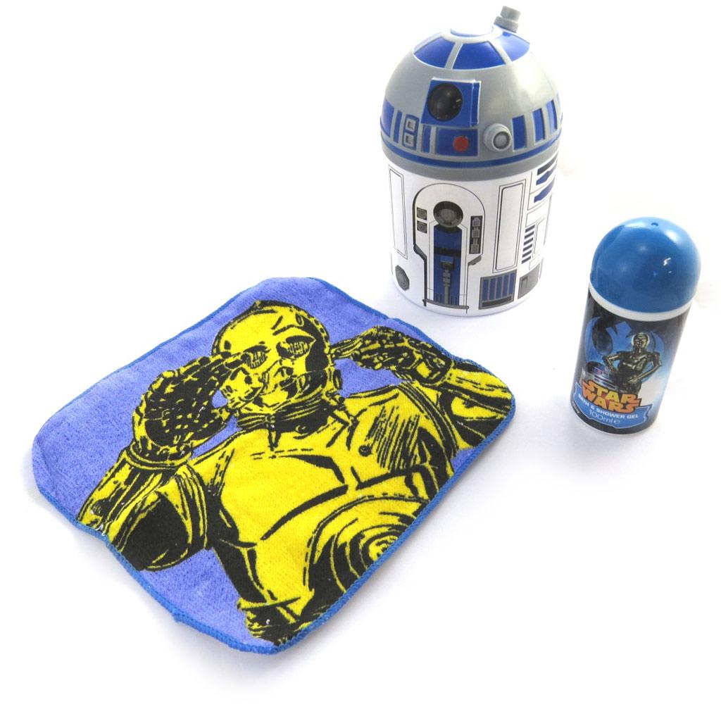 Coffret cadeau douche \'Star Wars\' (3 pièces) 100 ml + R2D2 - [M9079]