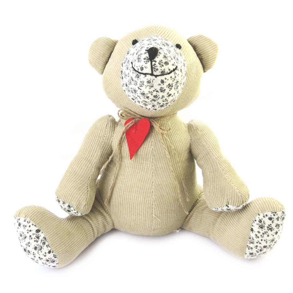 Peluche Cale porte \'Teddy\' taupe - [M9655]