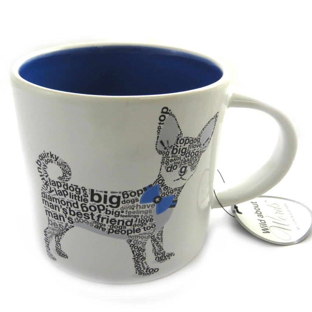 Mug céramique \'Wild about Words\' (Chihuahua) bleu - [M9881]