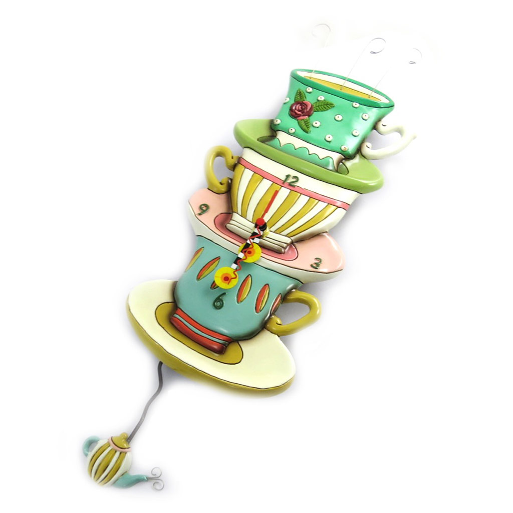 Horloge Murale \'Allen Designs\' Teacups (25x14 cm) - [M9884]