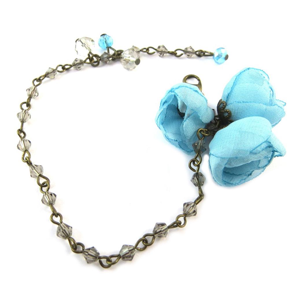 Bracelet artisanal \'Les Antoinettes\' lagon bleu (fait main) - [P0801]