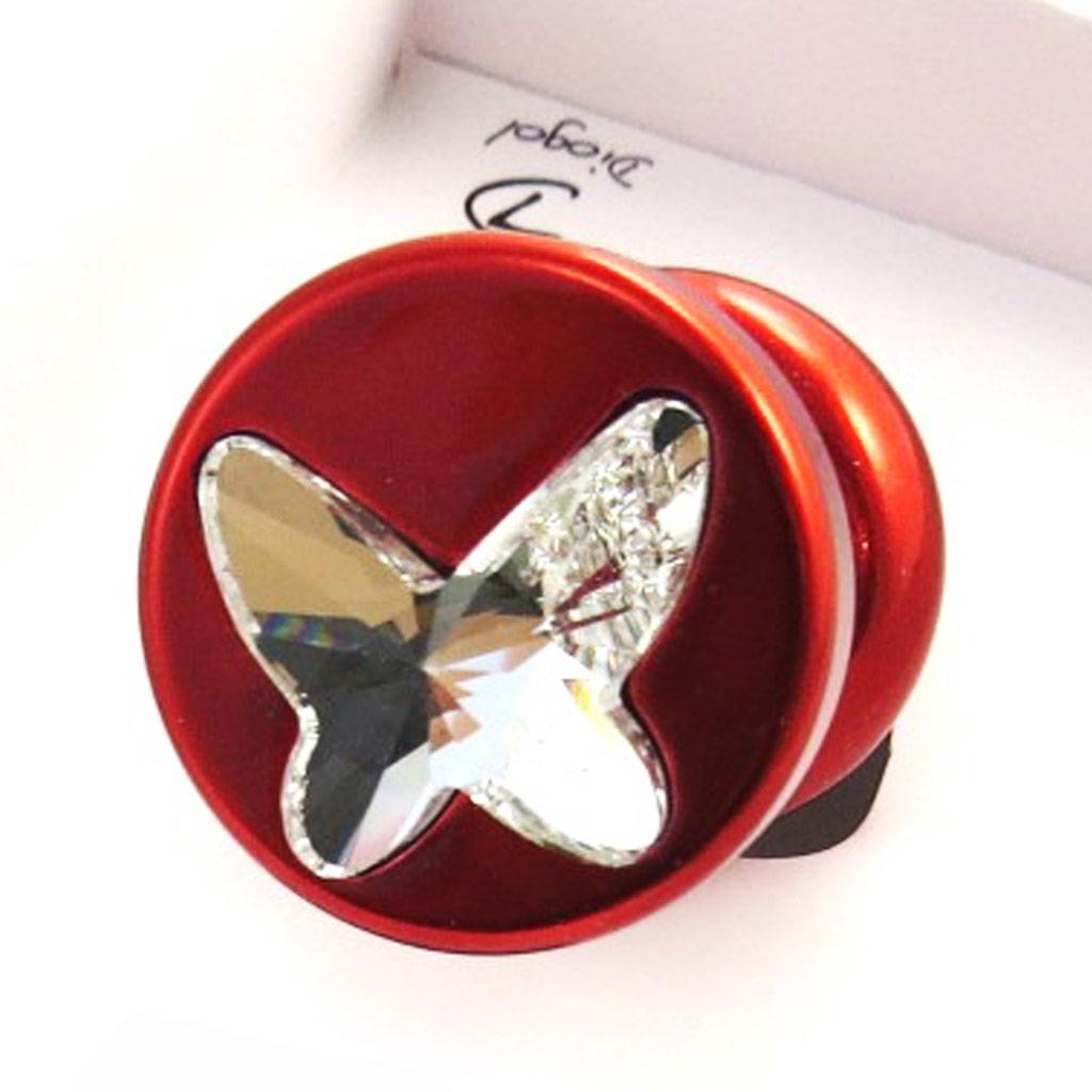 Bijou anal \'Cristal\' butterfly rouge (Crystal) - [N0200]