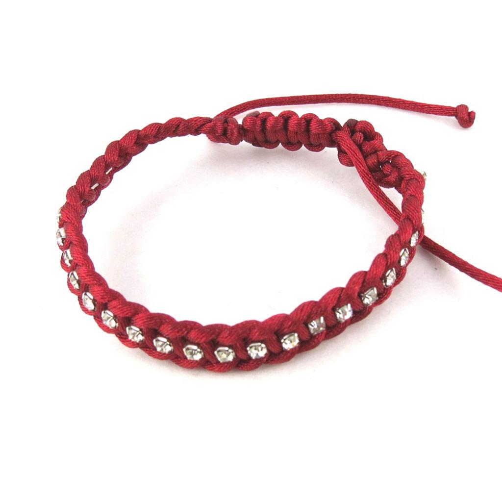 Bracelet créateur shambhala \'Scarlett\' rouge - [N0248]
