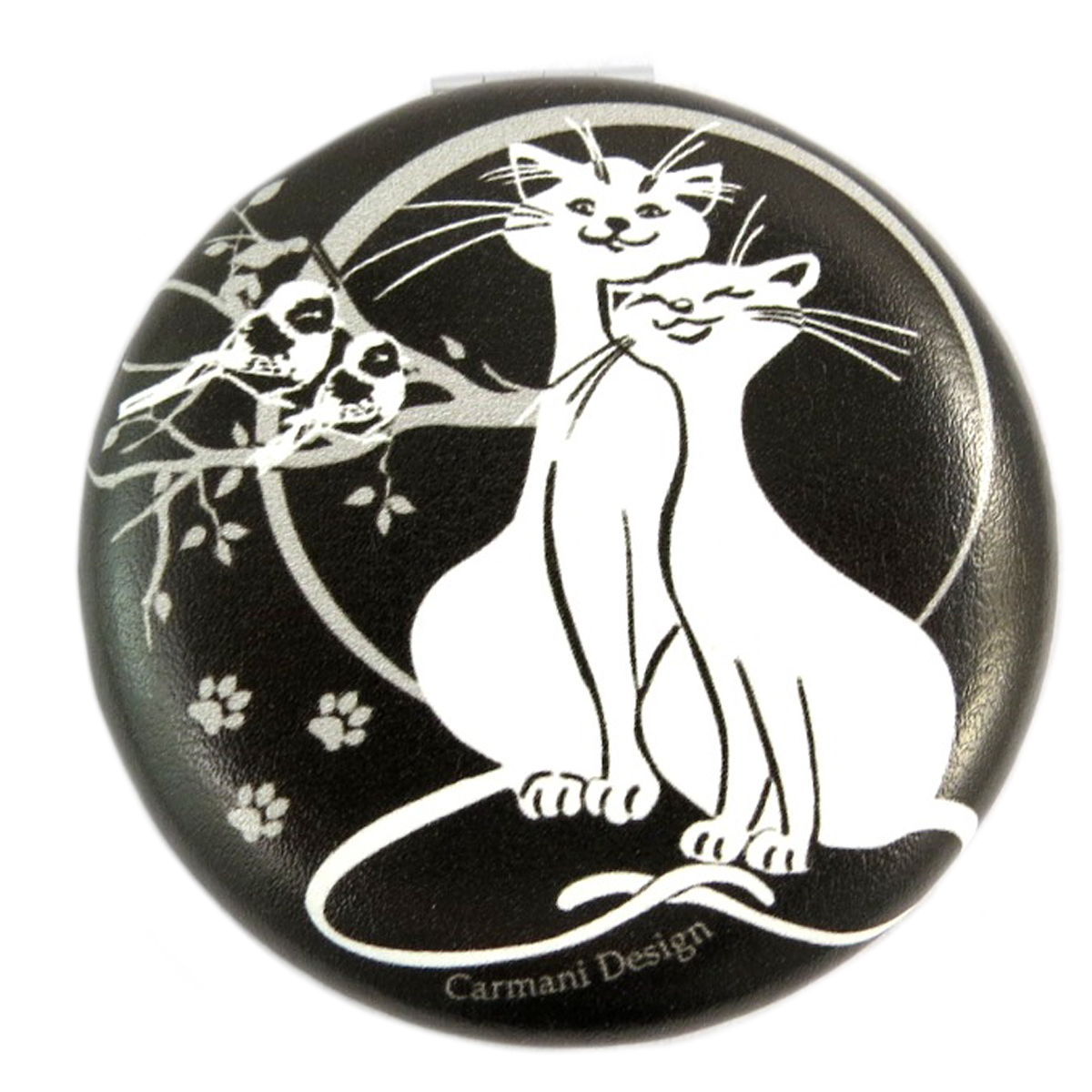 Miroir Créateur \'Les Chats\' noir blanc - 7x2 cm - [Q0173]