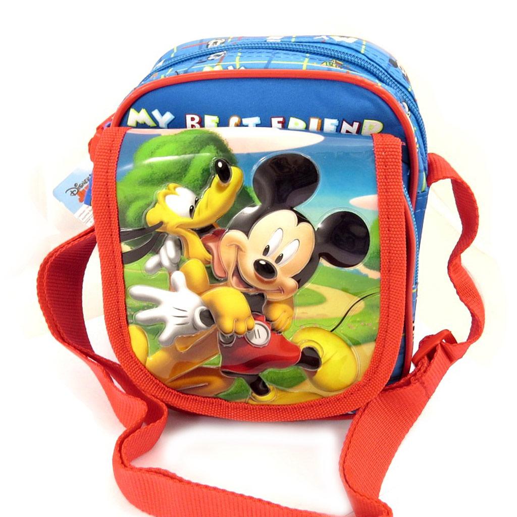 Sac bandoulière enfant \'Mickey\' bleu tutti frutti - [L0310]