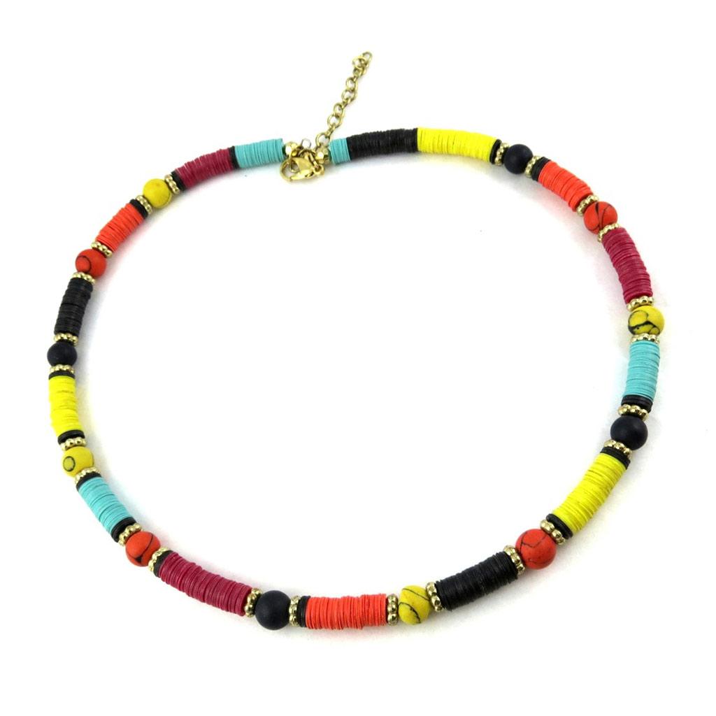Collier \'Kilimanjaro\' multicolore - [N0294]
