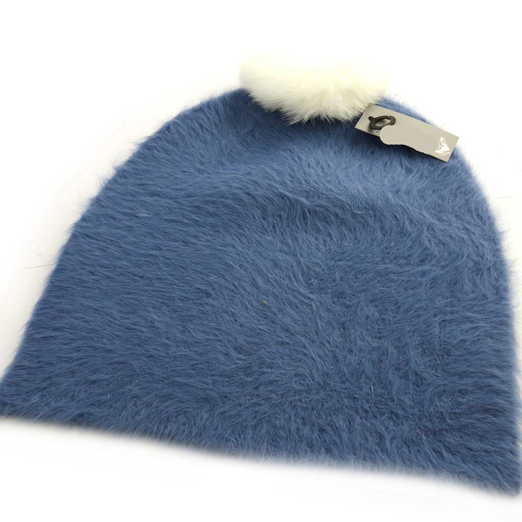 Bonnet créateur \'Coloriage\' bleu - [N0387]