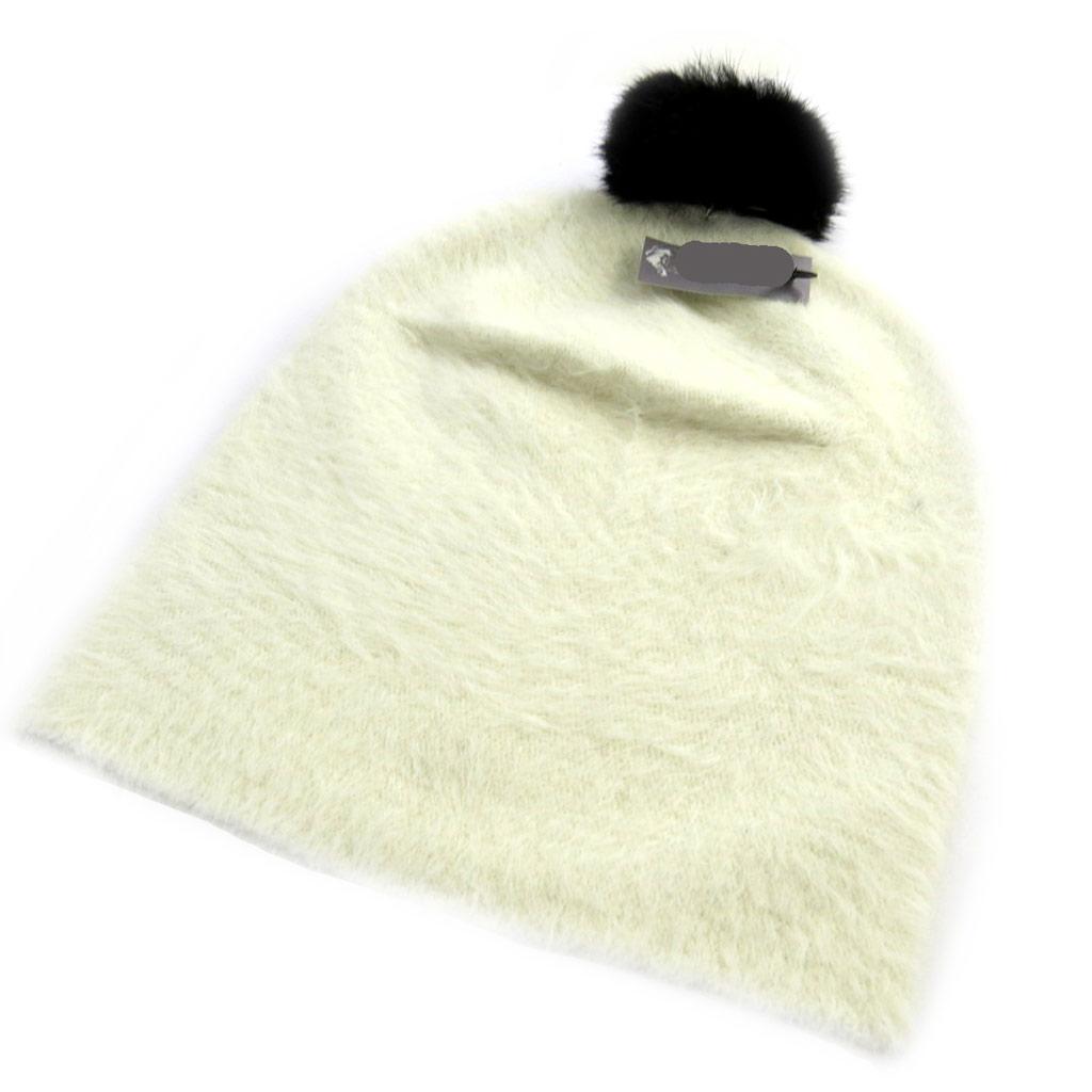 Bonnet créateur \'Coloriage\' ivoire - [N0388]