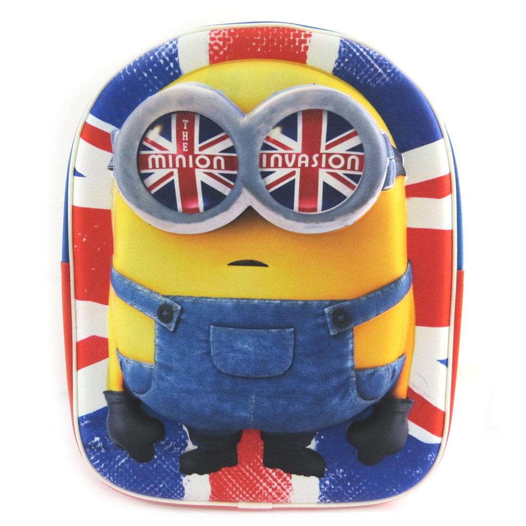 Sac à Dos 3D \'Minions\' Union Jack (31x25x10 cm) - [N0447]