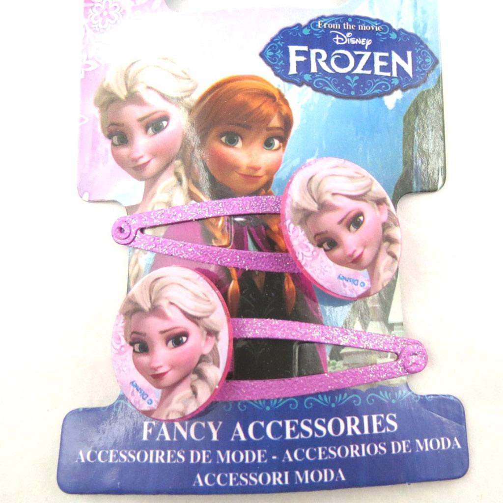 Paire de barrettes \'Frozen - Reine des Neiges\' rose  - [N0452]