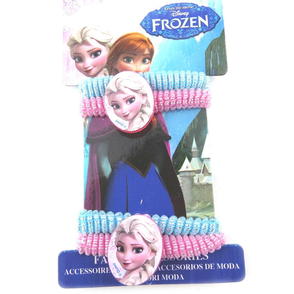 Lot de 4 élastiques \'Frozen - Reine des Neiges\' rose bleu - [N0458]