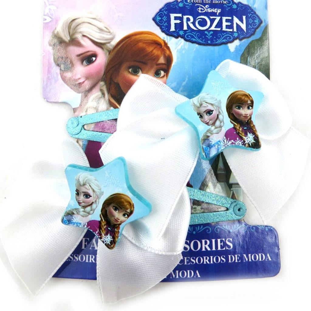 Paire de barrettes \'Frozen - Reine des Neiges\' turquoise  - [N0462]