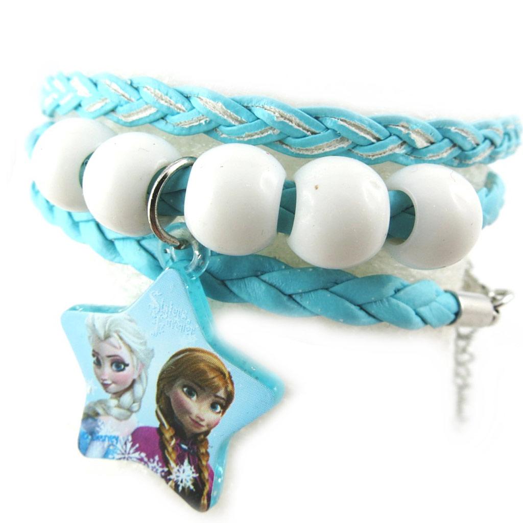 Bracelet créateur \'Frozen - Reine des Neiges\' turquoise - [N0463]