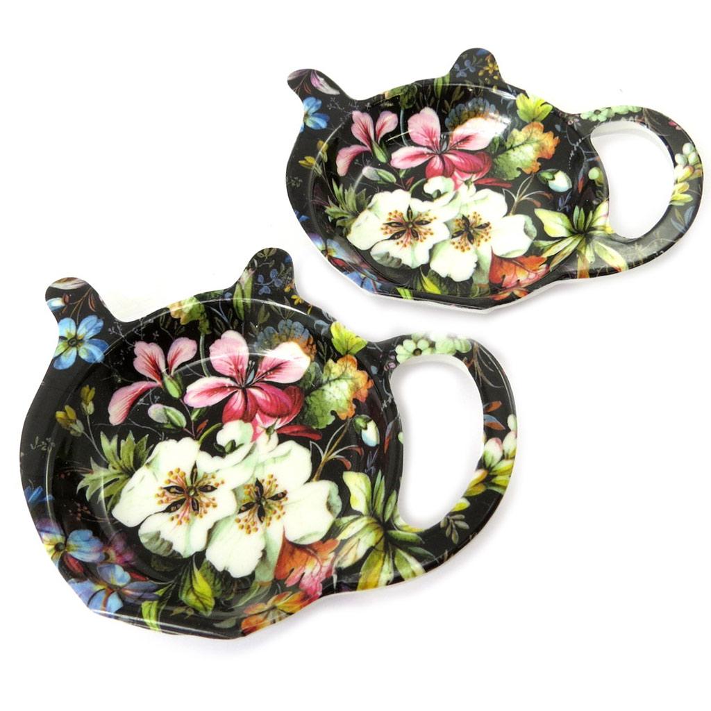 2 repose sachets \'William Kilburn Collection\' noir multicolore (Blossom) - [P0311]