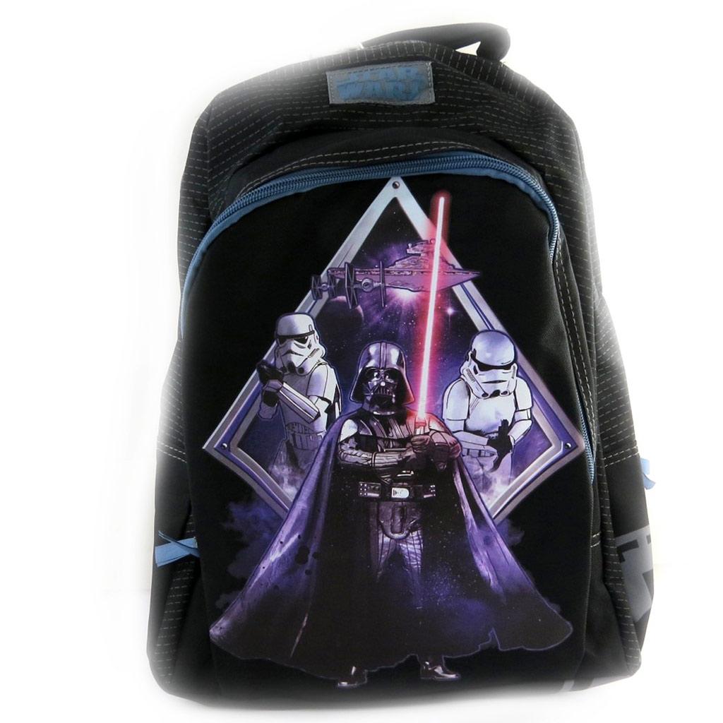 Sac à dos enfant \'Star Wars\' noir violet (45x33x15 cm) - [N0480]