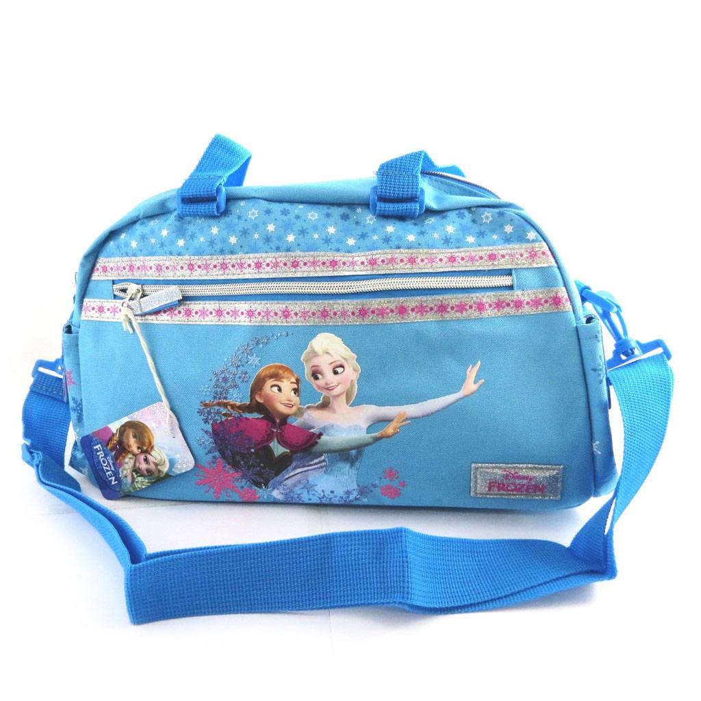 Sac de sport \'Frozen - Reine des Neiges\' bleu (40x27x13 cm) - [N0482]
