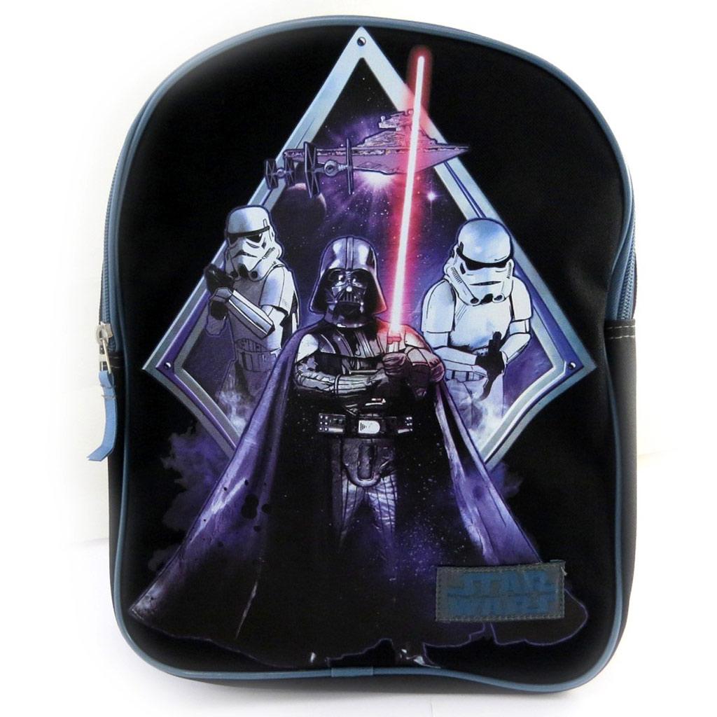 Sac à dos enfant \'Star Wars\' noir violet (31x25x9 cm) - [N0484]