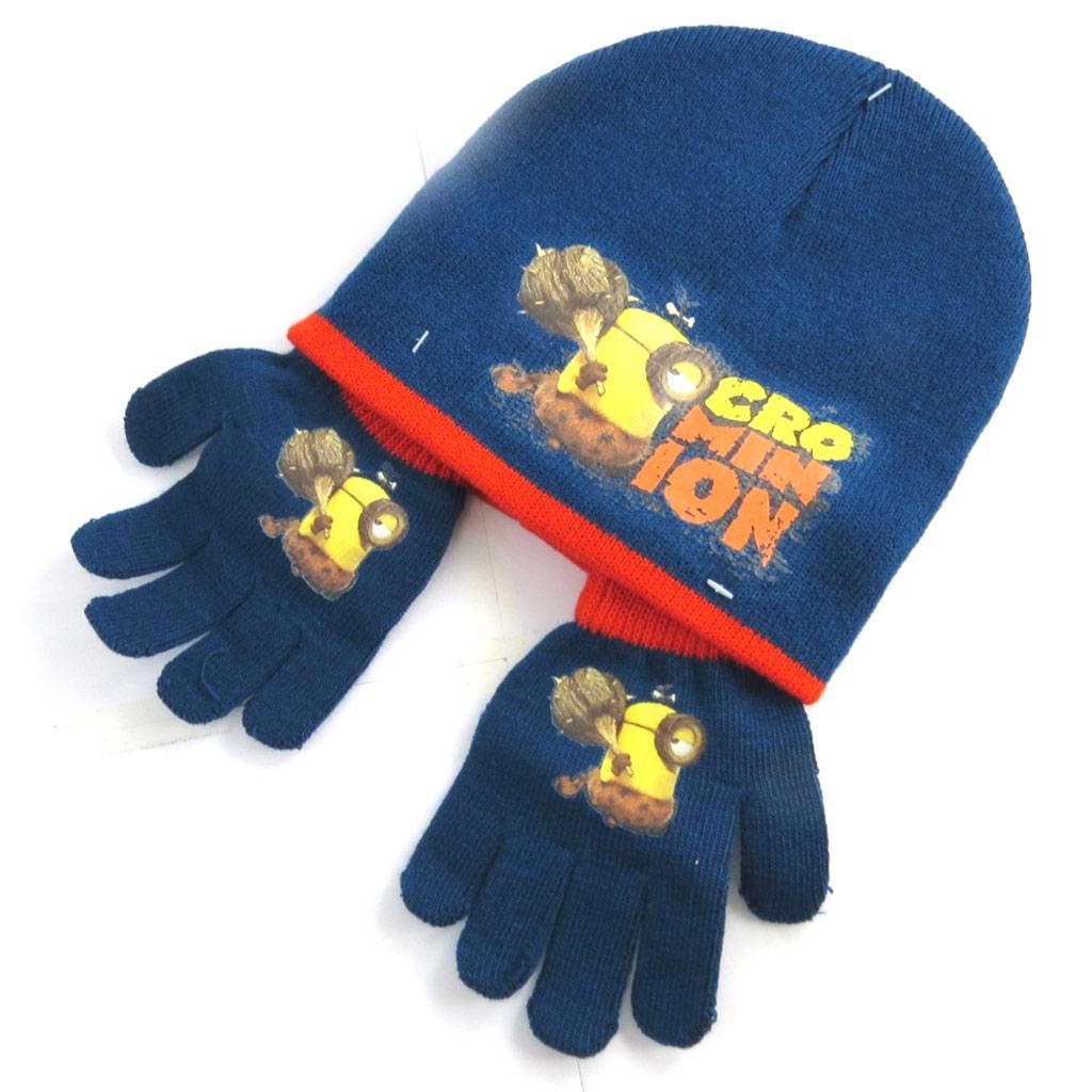 Ensemble gants et bonnet \'Minions\' marine - [N0487]