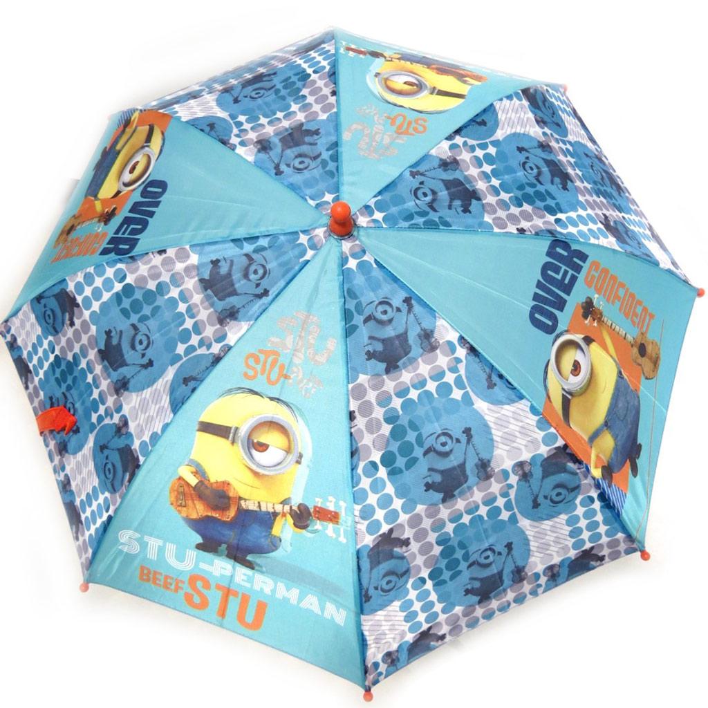 Parapluie Enfant \'Minions\' turquoise (63 cm) - [N0500]