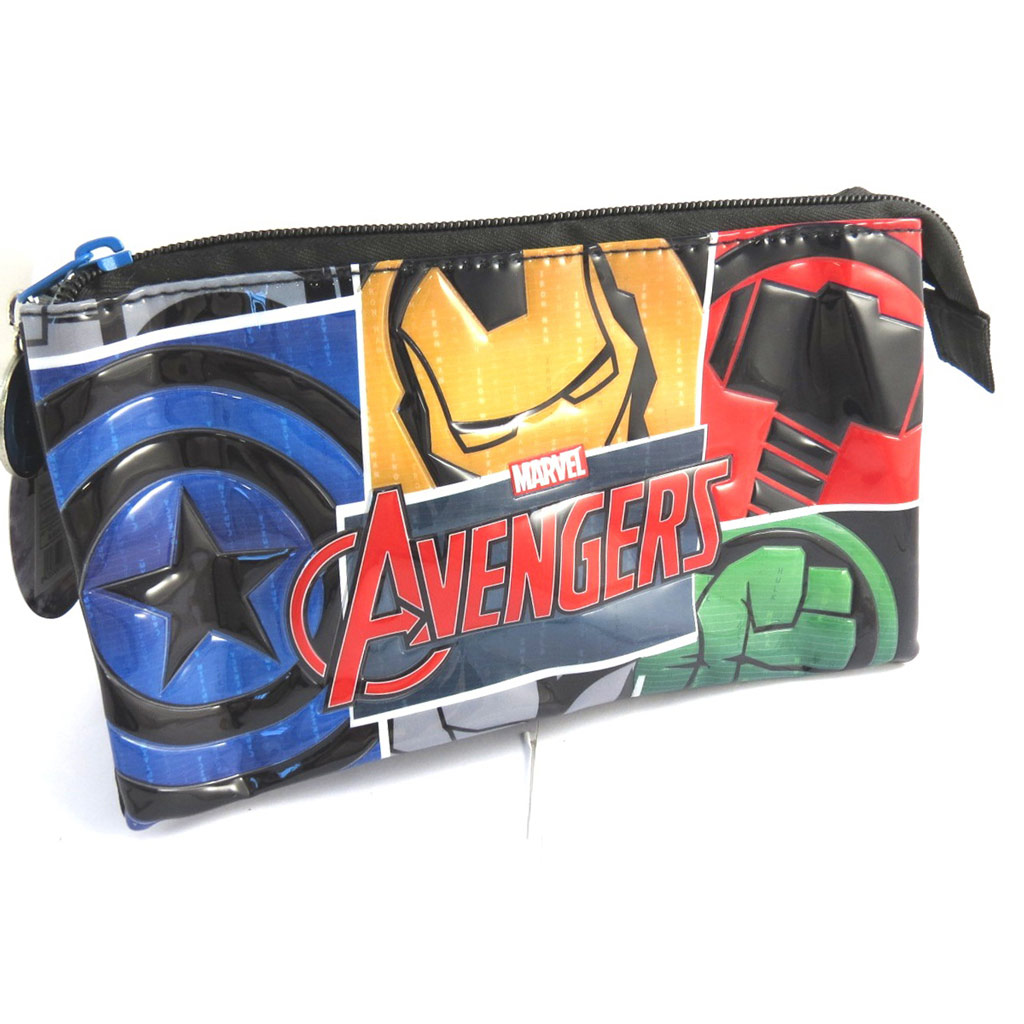 Trousse \'Avengers\' noir multicolore (triple compartiments) - [N0517]