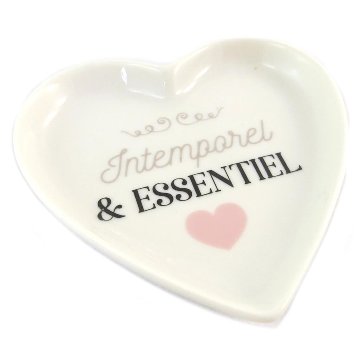 Repose sachet de thé céramique \'Love\' (Intemporel et essentiel) - 9x9 cm - [Q0455]