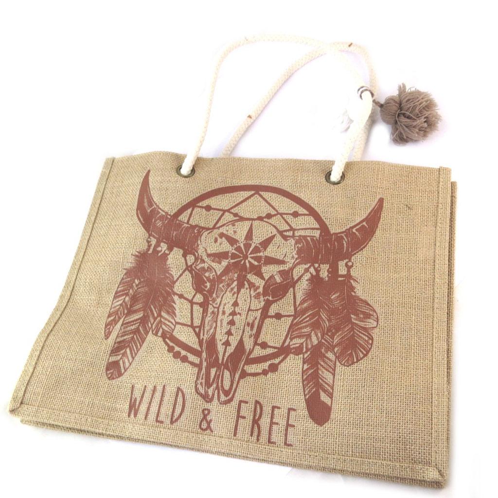 Sac shopping \'Boho\' (Wild & Free) - 425x33x185 cm - [P0385]