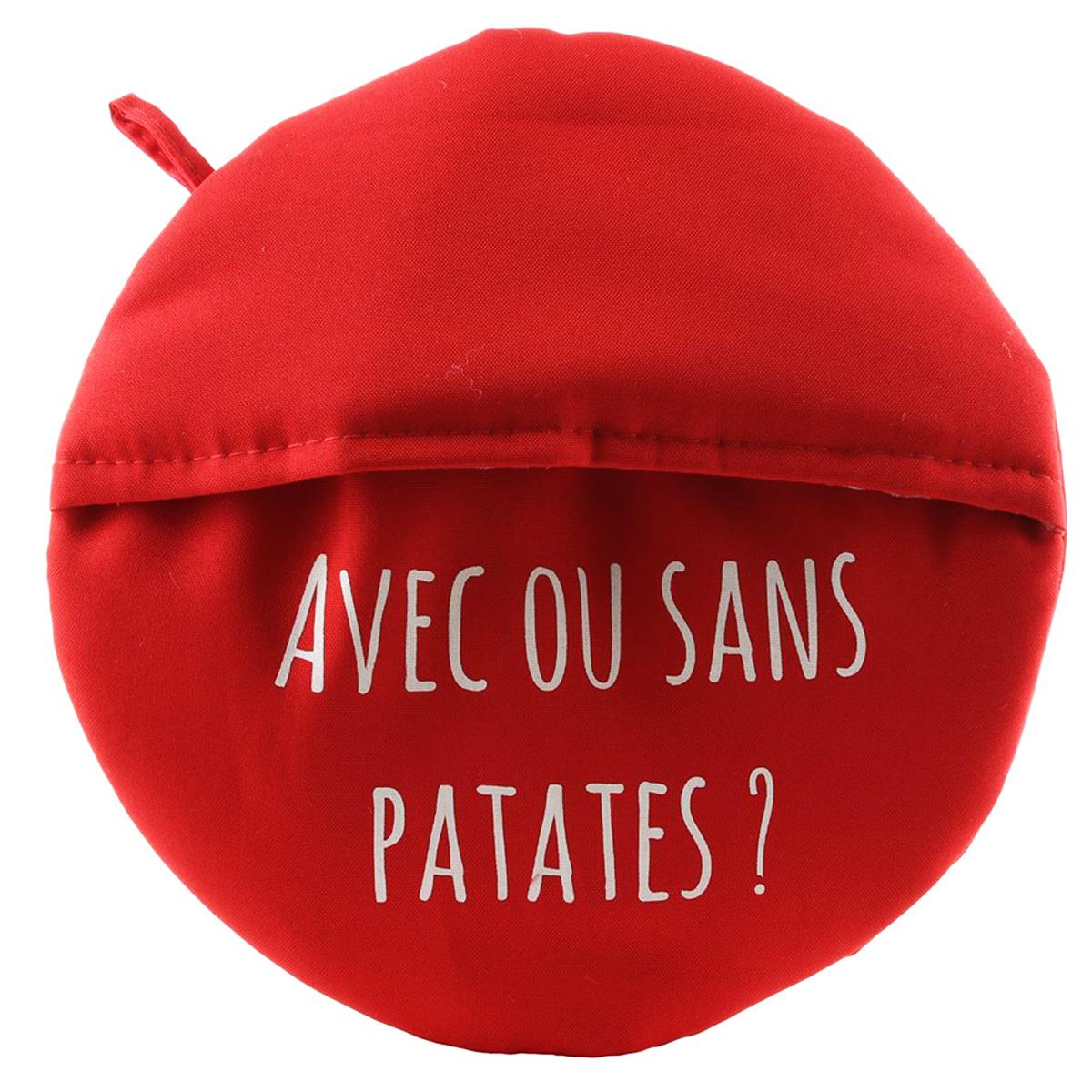 Chausson cuit pommes de terre \'Messages\' rouge (avec ou sans patates ?) - 265 cm - [Q0518]