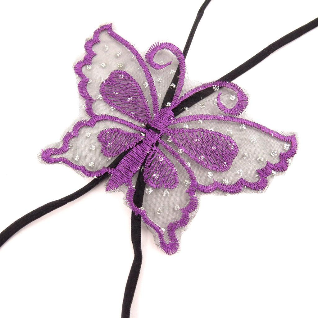 Bretelles soutien-gorge \'Scarlett\' papillon violet - [L0696]