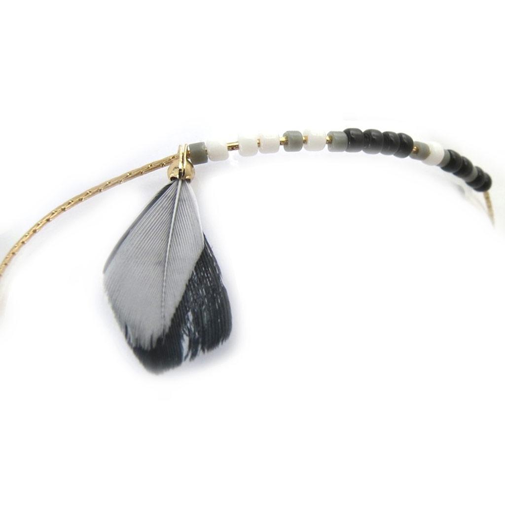 Bracelet \'Navajos\' gris doré - [N0743]