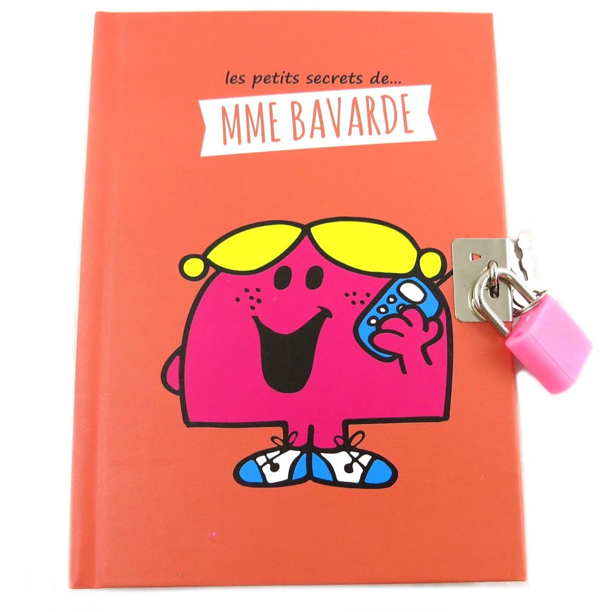 Journal Intime \'Monsieur Madame\' orange (Mme Bavarde) - 15x11 cm - [Q0621]