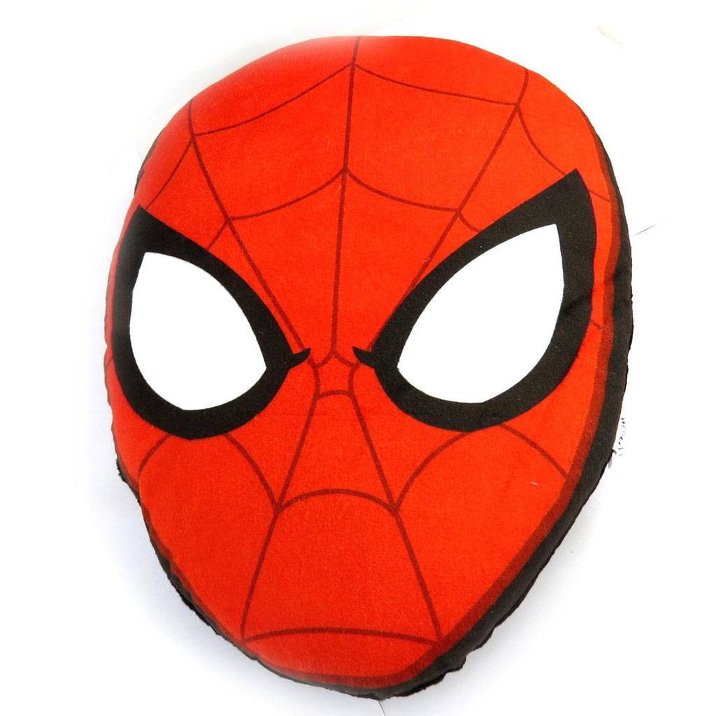 Coussin peluche \'Spiderman\' rouge (36 cm) - [N0943]