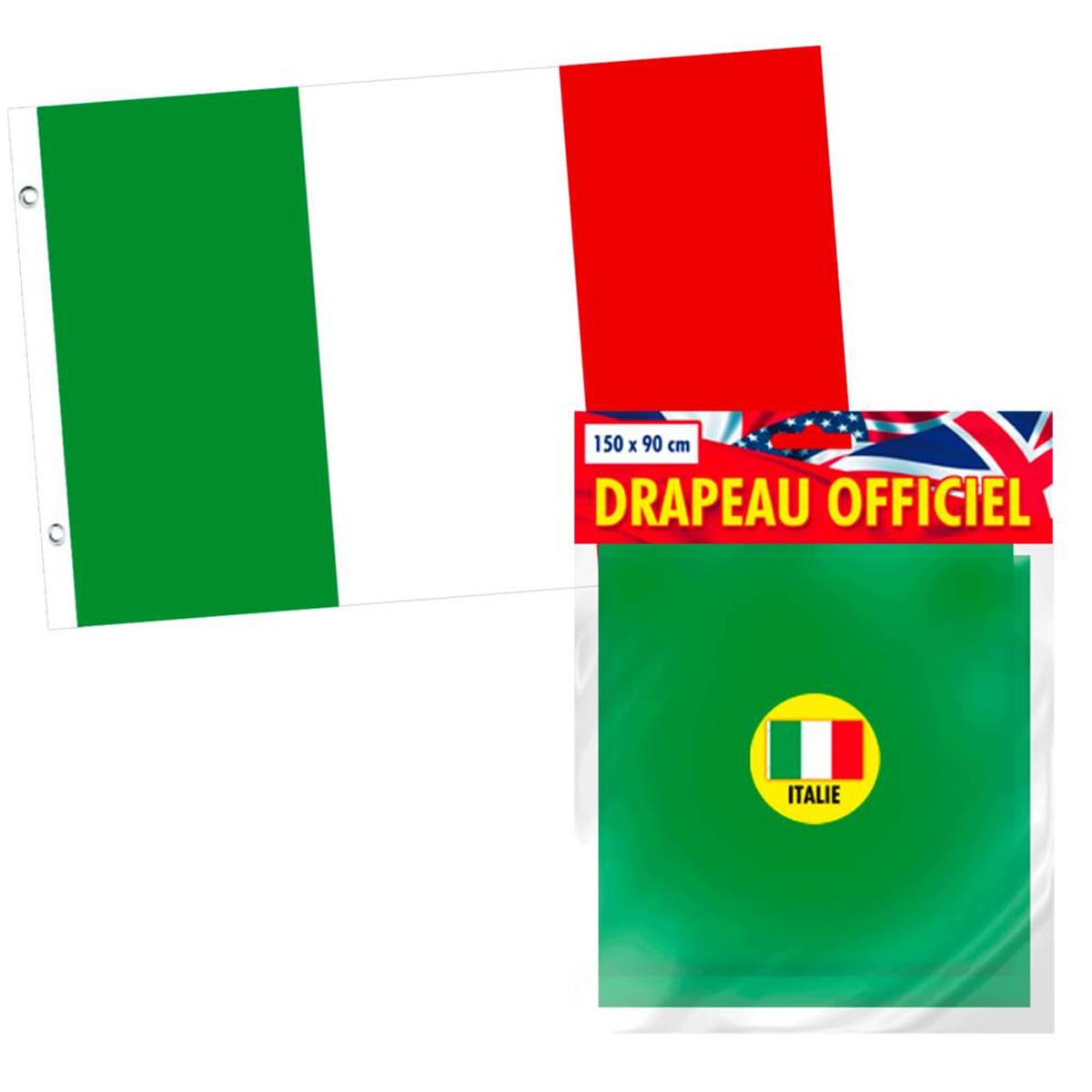 Drapeau \'Italie\' vert blanc rouge - 90x150 cm - [L1098]