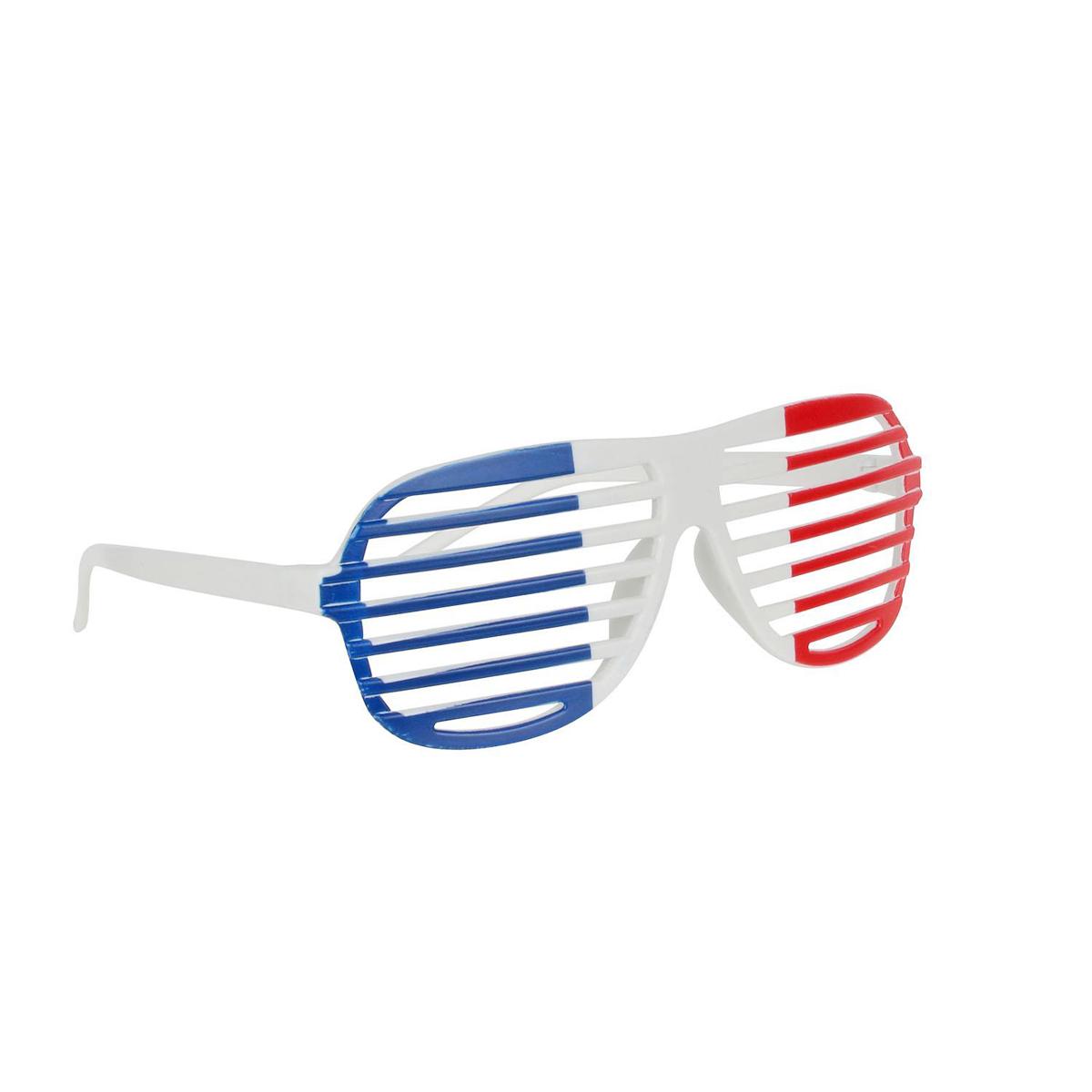 Lunettes humoristique \'France Cocorico\' tricolore - [Q0803]