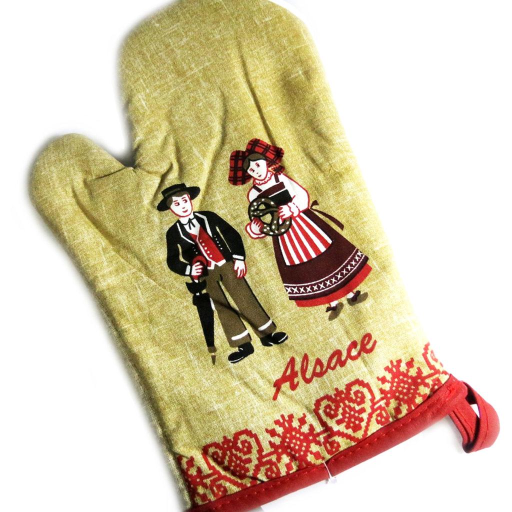 2 gants créateur \'Alsace\' écru - [L1243]