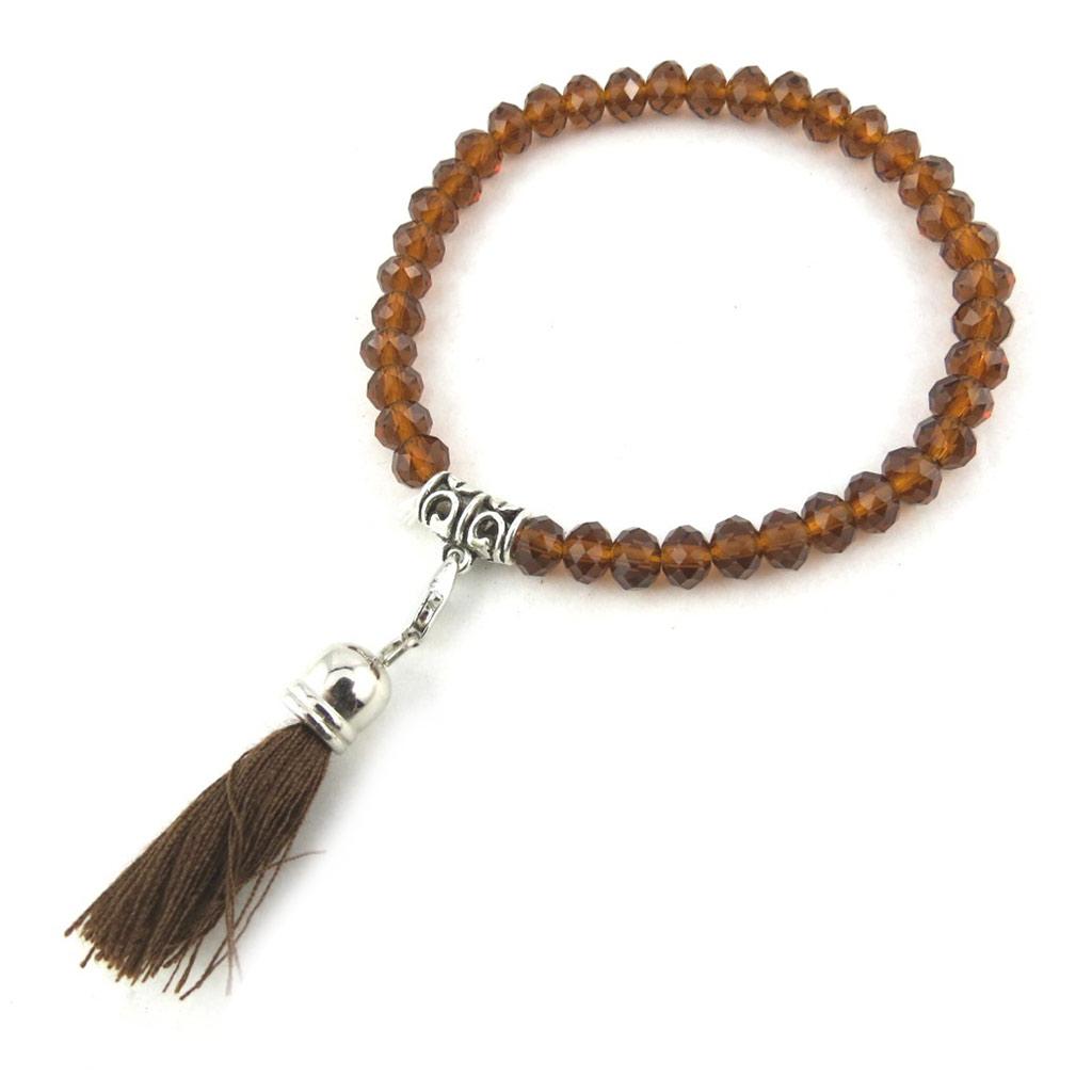 Bracelet ethnique \'Altaï\' marron - [N1164]