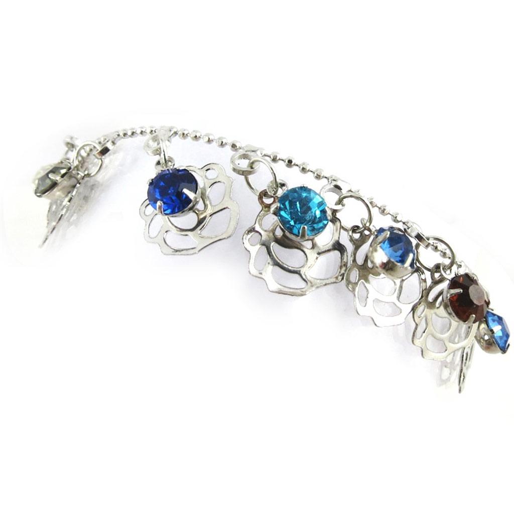 Bracelet \'Rosa Romantica\' bleu multicolore - [N1196]