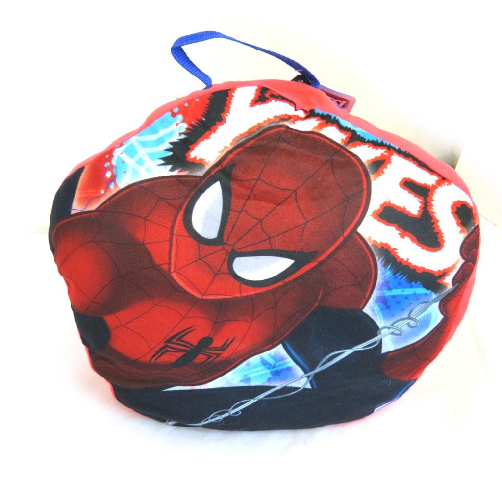 Sac de couchage + coussin \'Spiderman\' rouge bleu - 140x70 cm - [N1261]