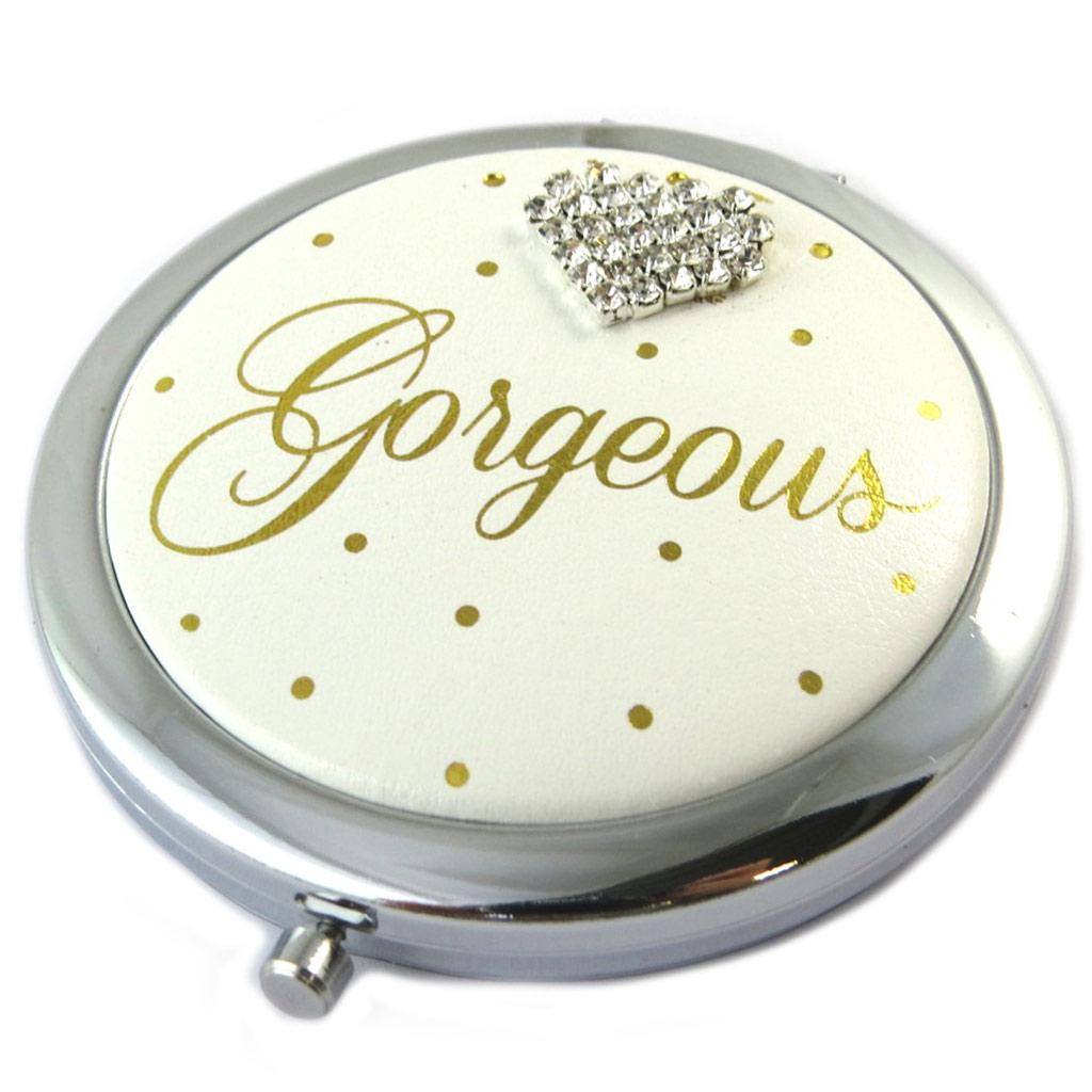 Miroir Créateur \'Gorgeous\' ivoire - 7 cm - [P1085]