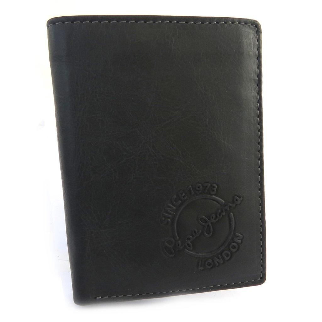 Portefeuille européen cuir \' Pepe Jeans\' noir vintage (115x85x25 cm) - [N1416]