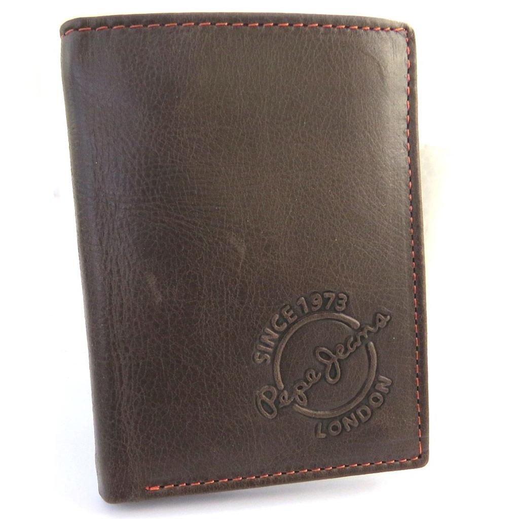 Portefeuille européen cuir \' Pepe Jeans\' marron vintage (115x85x25 cm) - [N1417]