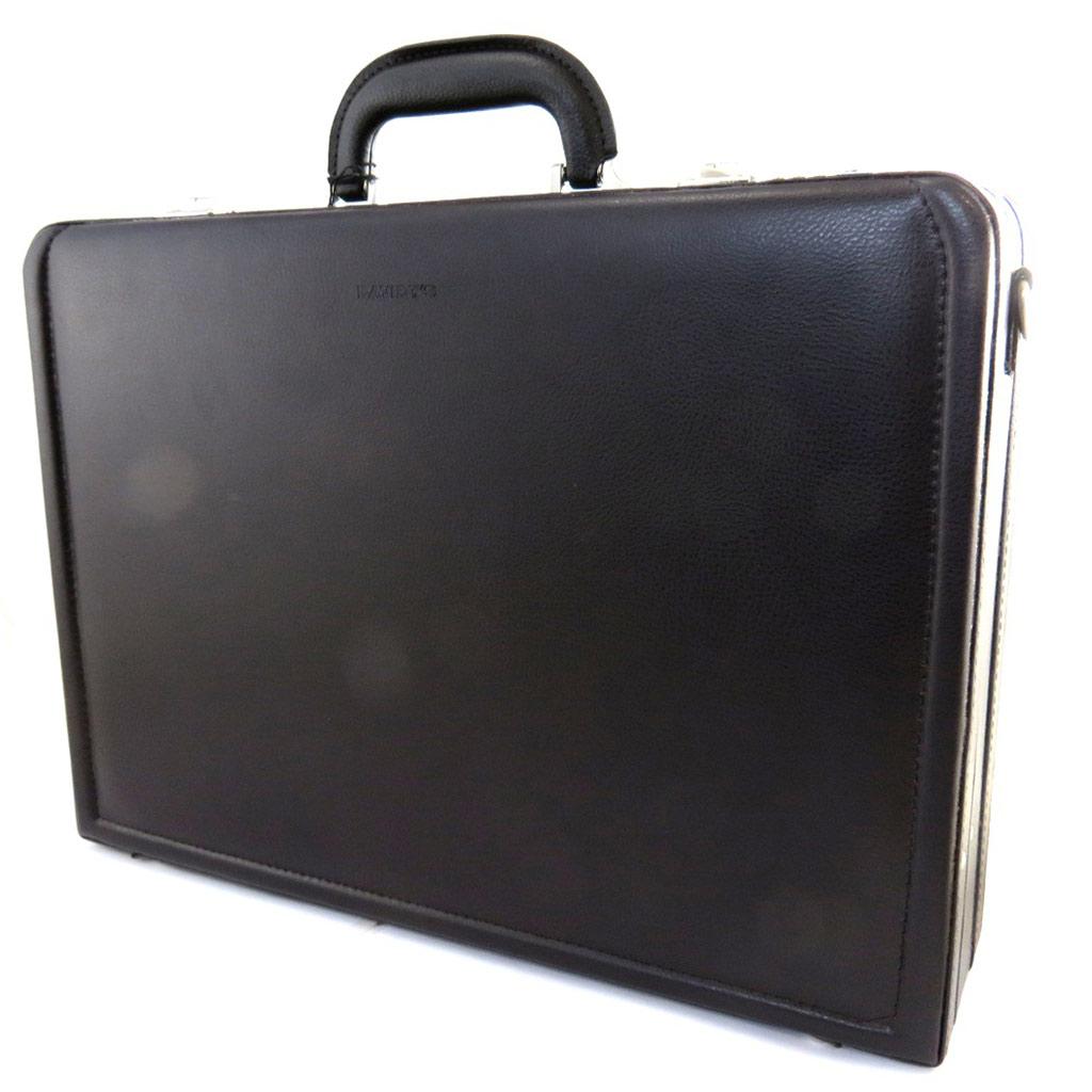 Attaché case \'Manhattan\' marron (17\') - [N1548]
