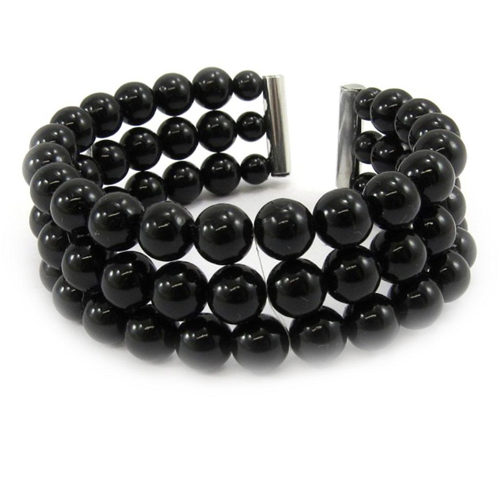 Bracelet \'Sissi\' noir - [L1620]