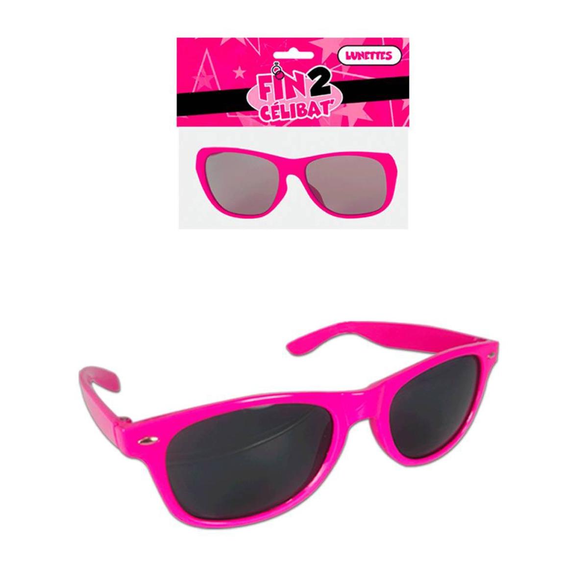 Lunettes de fête \'Coloriage\' rose (pink party) - team EVJF - [Q1208]