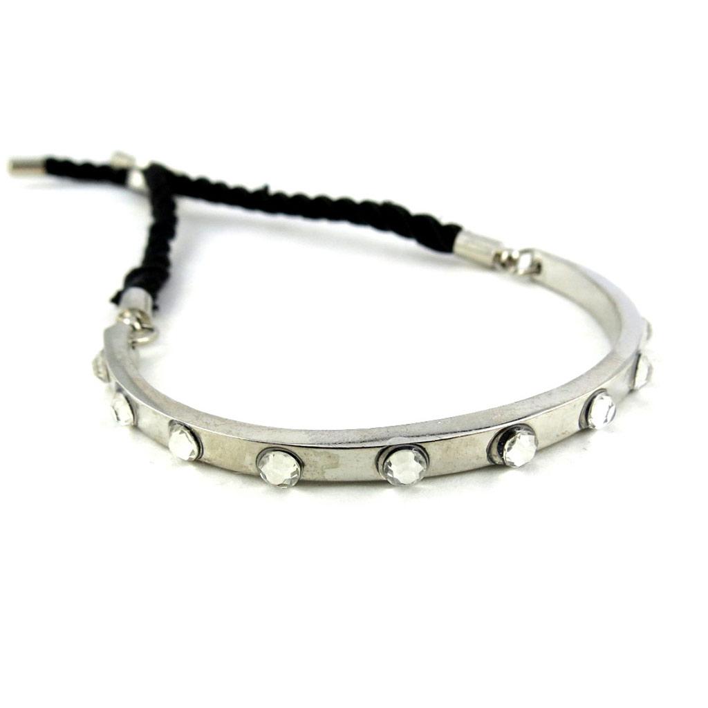 Bracelet \'Cléopatra\' blanc argenté - [N1572]