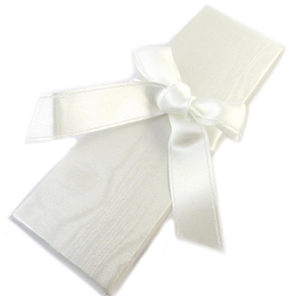 Ecrin \'Satiné Pastel\' blanc - 135x45x23 cm  - [P1347]