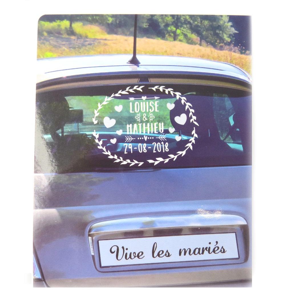 Planche de stickers décoration voiture \'Mariage\'  - [P1360]