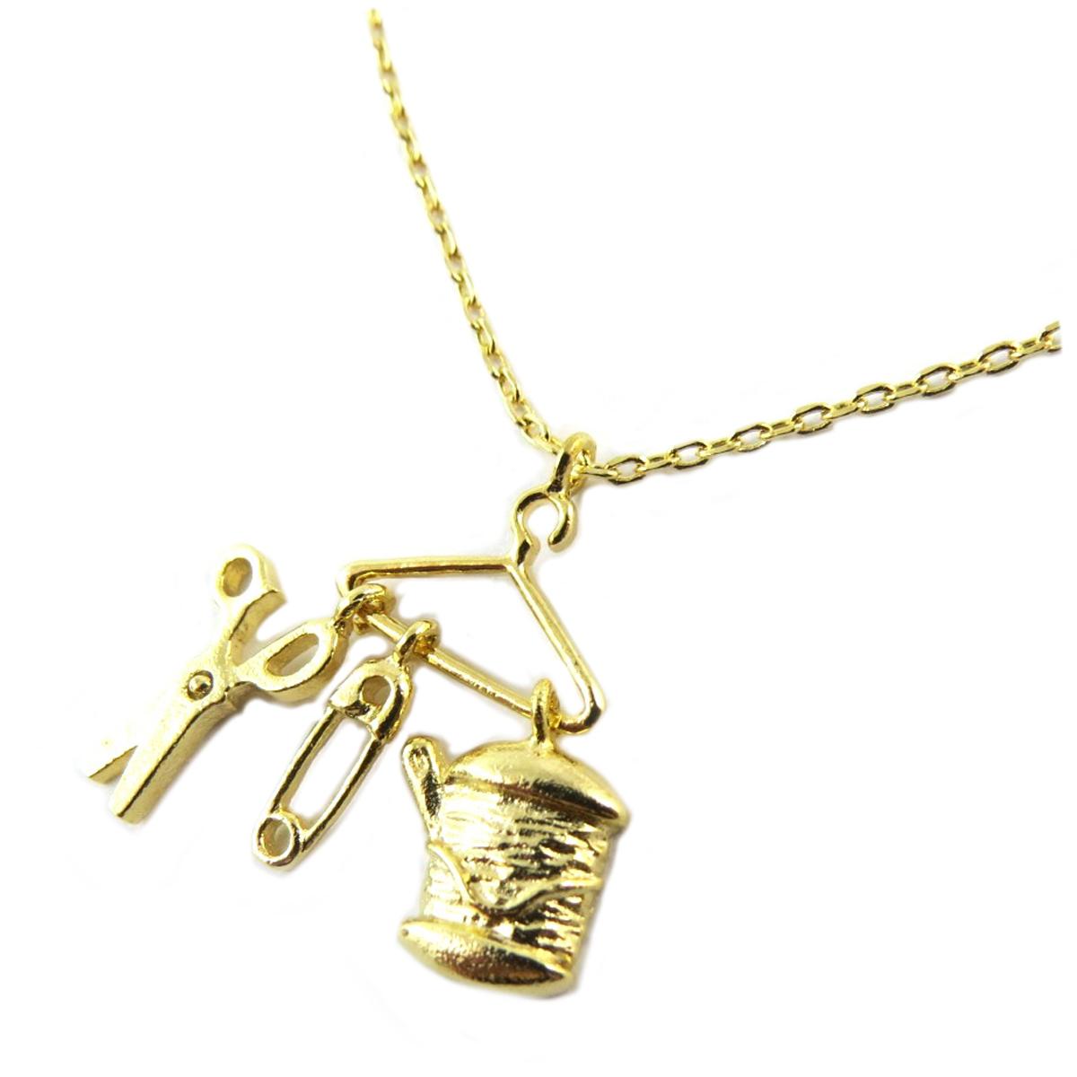 Bracelet artisanal \'Couture\' doré -  15x15 mm - [Q1531]